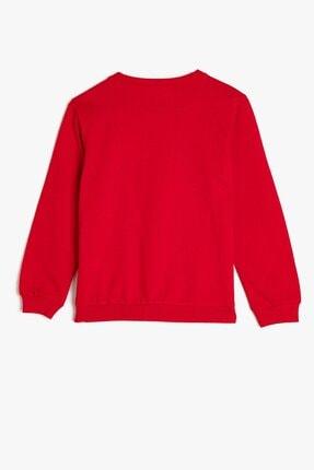 Koton Koton Kız Çocuk Bisiklet Yaka Baskılı Kırmızı Sweatshirt 1kkg17967ok 2