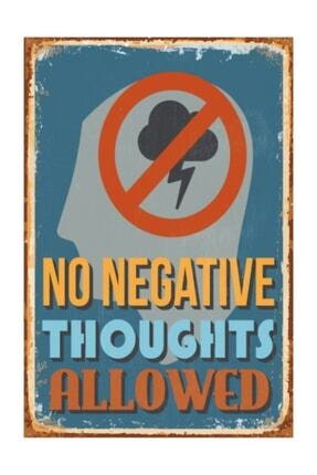 Hayat Poster Olumsuz Düşünceler Yasak Retro Vintage Ahşap Poster 0