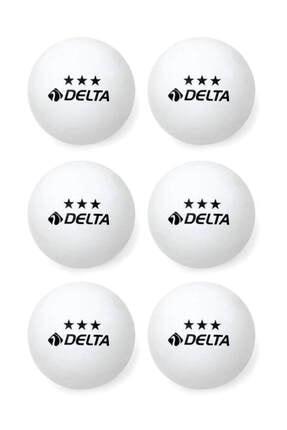 Delta 6 Adet Beyaz Masa Tenisi Topu ( Pinpon Topu ) 0