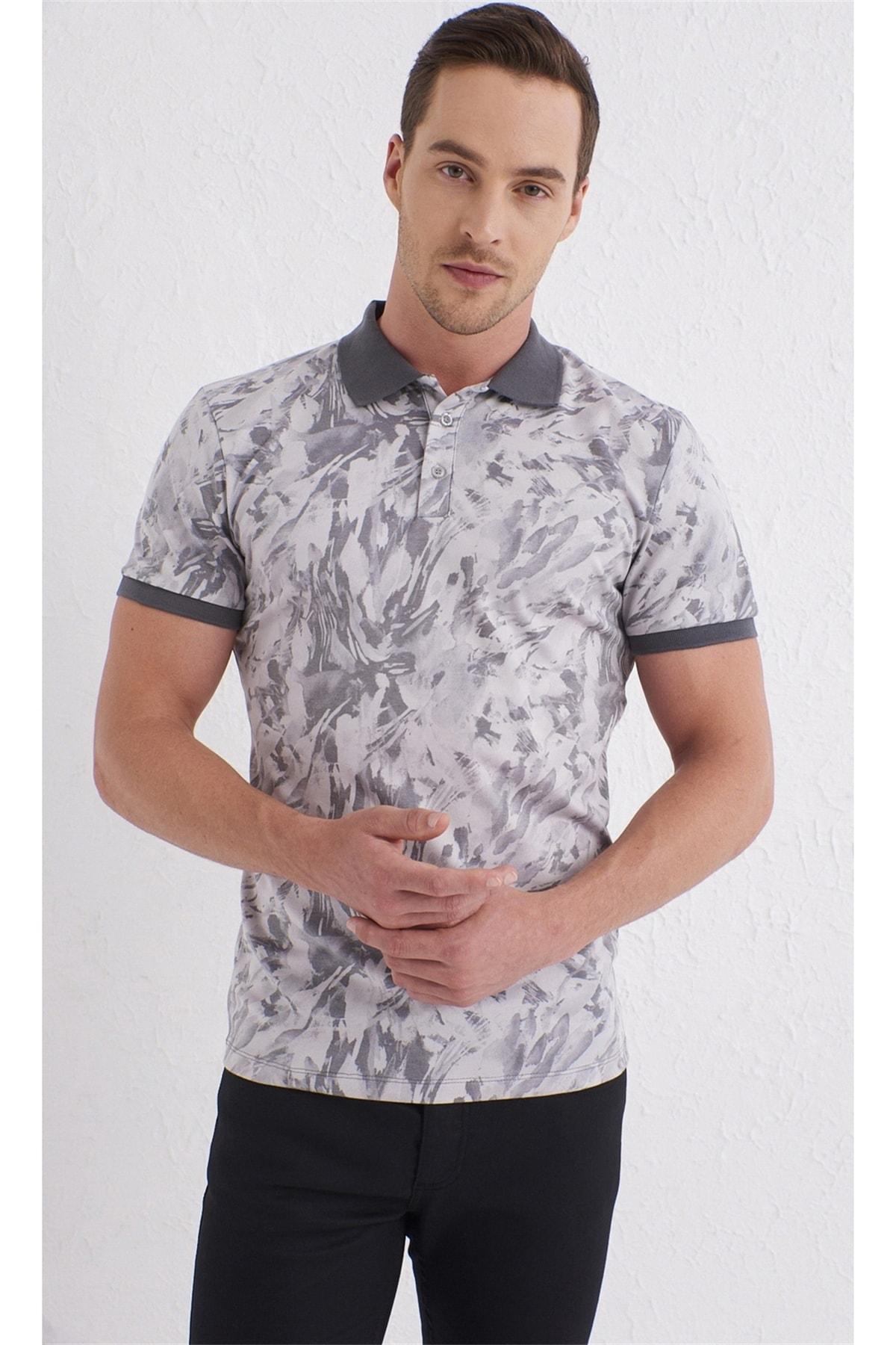 Ts 763 Slim Fit Bej Spor T-shirt