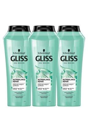 Gliss Nutribalance Şampuan 500 ml X3 Adet 0