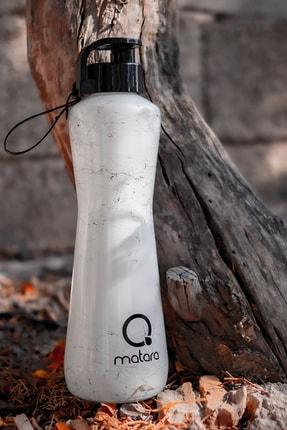 Qmatara Marble Beyaz Cam Matara 750 Cc 4