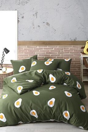 Zeynep Tekstil Avocado %100 Pamuk Ranforce Çift Kişilik Avakado Nevresim Takımı 0