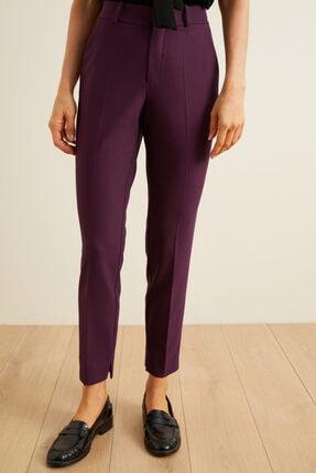 adL Kadın Mor Paçası Yırtmaçlı Cepli Pantolon 1