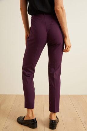 adL Kadın Mor Paçası Yırtmaçlı Cepli Pantolon 2