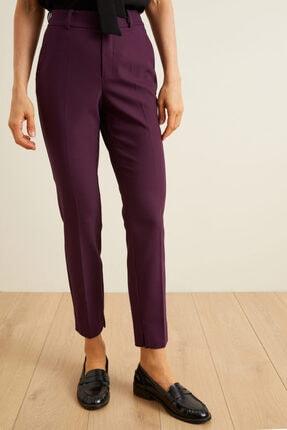 adL Kadın Mor Paçası Yırtmaçlı Cepli Pantolon 3