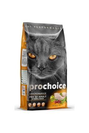 Pro Choice Prochoice Pro 32 Sterilised Tavuklu Kısır Kedi Maması 15 Kg 0