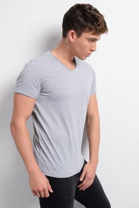 Rodi Jeans Rodi Rd19ye279974 Gri Melanj Erkek Fırçalı Süprem V Yaka T-shirt 3