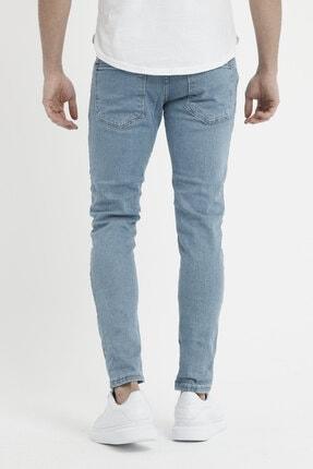 MODAMESTO Erkek Açık Mavi Slim Fit Likralı Dar Paça Kot Pantolon 4