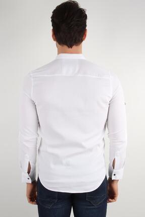 ALEXANDERGARDI Hakım Yaka Slim Fit Gömlek, Beyaz (E20-611100) 4