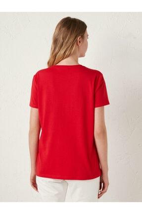 LC Waikiki Kadın Kırmızı Tişört 4