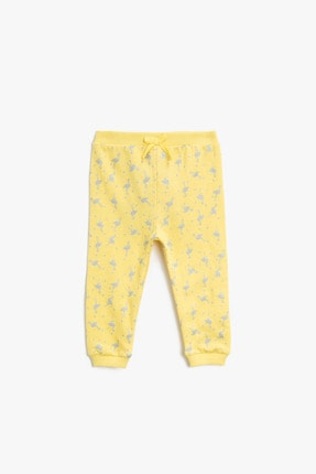 Koton Kız Bebek Sarı Eşofman Altı 0