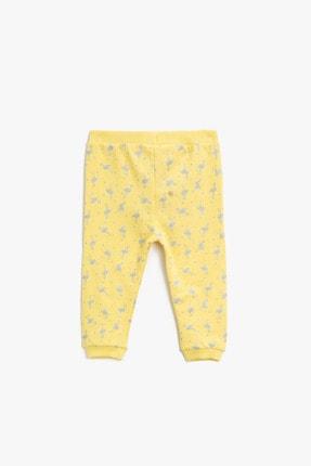 Koton Kız Bebek Sarı Eşofman Altı 1