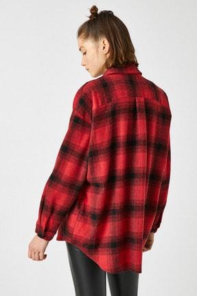 Koton Kadın Kırmızı Ekoseli Gömlek 1KAL68239IW 3