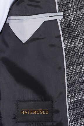 Hatemoğlu Siyah Kareli Mix Takım Elbise 2