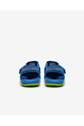 Skechers SIDE WAVE Küçük Erkek Çocuk Mavi Sandalet 3