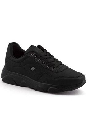 L.A Polo Erkek Siyah Renk Siyah Taban Spor Ayakkabı 019 0