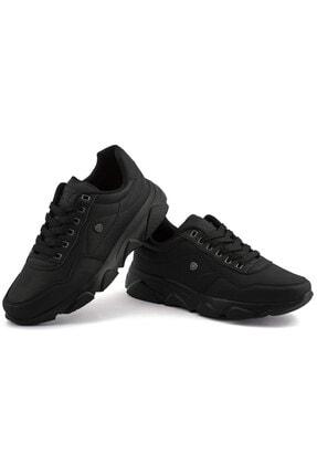 L.A Polo Erkek Siyah Renk Siyah Taban Spor Ayakkabı 019 2
