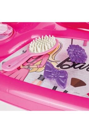 Dolu Barbie Ayaklı Makyaj Masası Ve Sandalye Seti 4