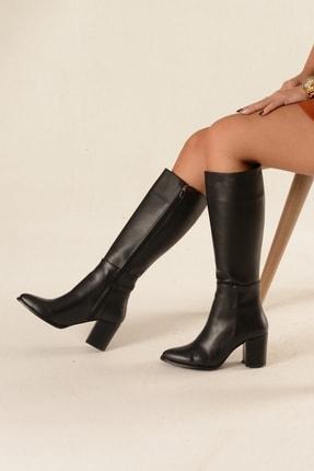 Nil Shoes Siyah Cilt Çizme - Morin 1
