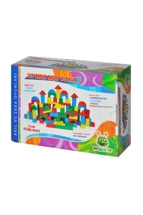 Karsan Oyuncak Eğitici Ahşap Bloklar 100 Parça 1