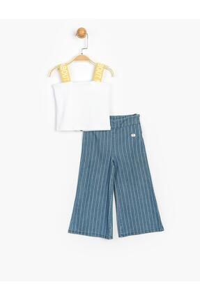 Panolino Kız Çocuk Askılı Badili Pantolonlu 2 Li Takım 3