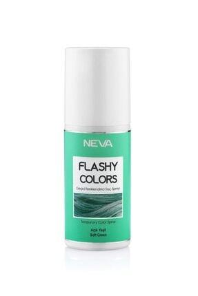 Flashy Colors Açık Yeşil Geçici Renklendirici Saç Spreyi 75ml 0