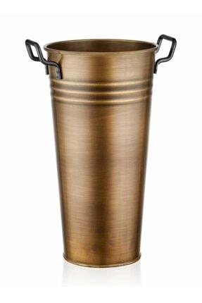 The Mia Galvaniz 50cm Metal Kulplu Vazo Gold Glv0573 0