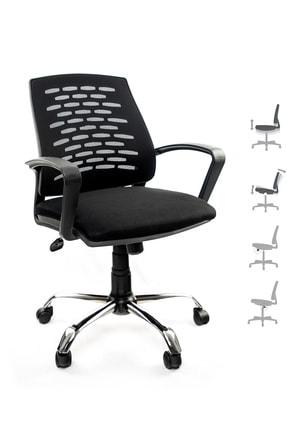 GREY Ev Ofis Çalışma Sandalyesi Bilgisayar Koltuğu 0