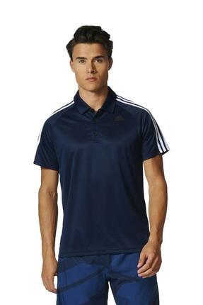 adidas Bp7224 D2m 3s Lacivert Polo Erkek T-shirt 0