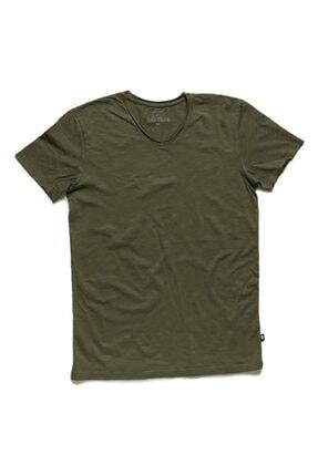 Bad Bear V-neck Tee Forest Yeşil Tişört (18.01.07.012-c09) 0