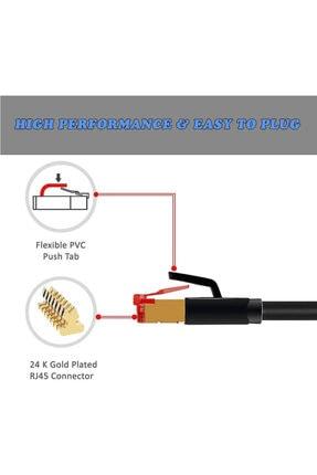 WOZLO 10 Metre Cat7 Patch Kablo - Cat 7 Stp Ethernet Kablosu - Internet 3