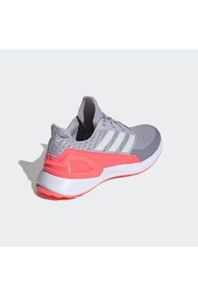 adidas Kadın Gri - Pembe Rapidarun Ayakkabı Antrenman Ayakkabısı 3