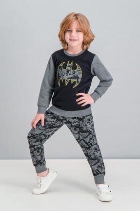 Batman Lisanslı Koyu Grimelanj Erkek Çocuk Eşofman Takımı V1 1
