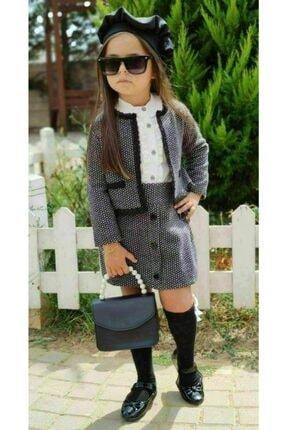 Riccotarz Kız Çocuk Madam Cute Ekoseli Şort Etekli Takım 0