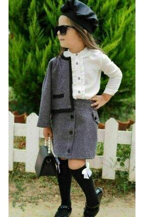 Riccotarz Kız Çocuk Madam Cute Ekoseli Şort Etekli Takım 3