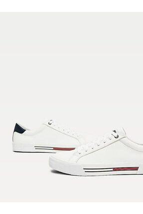 Tommy Hilfiger Erkek Beyaz Sneaker Essentıal Deri Sneaker EM0EM00488 2