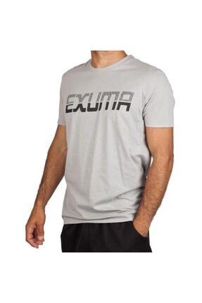 Exuma 381239 Erkek Açık Gri Günlük Tişört 0