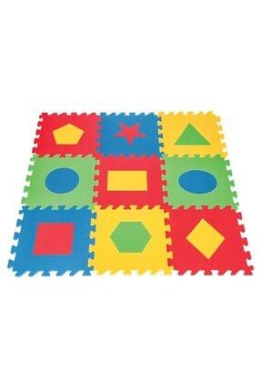 PİLSAN Polly Geometrik Şekilli Eğitici Yer Karosu Oyun Alanı 0
