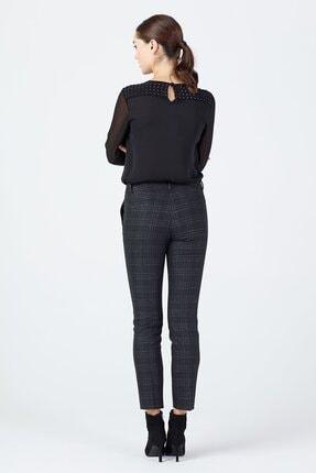Ekol Kadın Siyah Simli Ekose Pantolon 3057 2