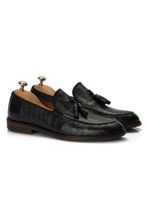 Muggo H052 Hakiki Deri Loafer Erkek Ayakkabı 2