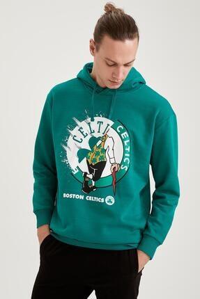 Defacto Nba Lisanslı Oversize Fit Unisex Kapüşonlu Sweatshirt 4