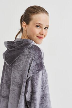 Penti Gri Velvet Sweatshirt 2