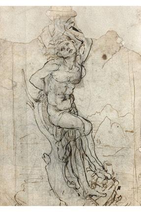 Vona Vintage Leonardo Davinci Saint Sebastian Drawing Art Poster 1