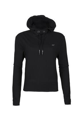Bad Bear Kadın Siyah Eve Crop Sweatshirt 0