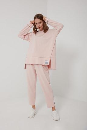 oia W-0943 Pudra Pamuklu Tunik Pantolon Takım Eşofman Takım 0