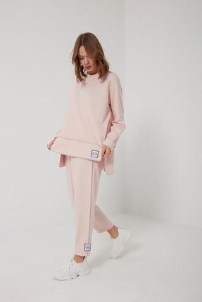 oia W-0943 Pudra Pamuklu Tunik Pantolon Takım Eşofman Takım 1