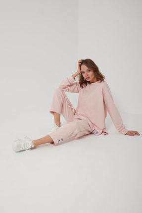 oia W-0943 Pudra Pamuklu Tunik Pantolon Takım Eşofman Takım 3