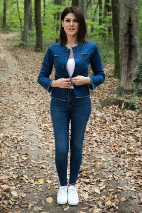 Desperado Kadın Koyu Mavi Yüksek Bel Likralı Jean 1