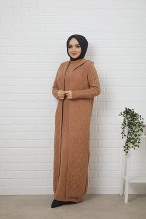 Kadın Uzun Triko Elbise Ceket Takım 12218